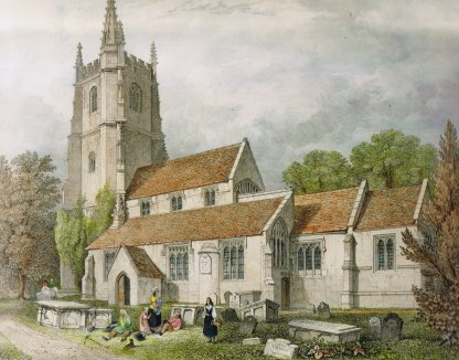 St Andrews Church, where generations of Newmans were baptised, married and buried